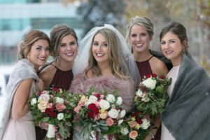 Nats Bridal Party outside
